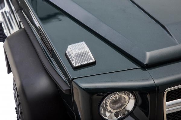Masinuta electrica Mercedes G63 Solo, 2 baterii 12V, 6 roti cauciuc EVA, 4x4, 1 loc, 4 motoare, negru [22]