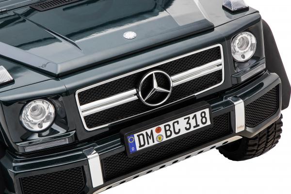 Masinuta electrica Mercedes G63 Solo, 2 baterii 12V, 6 roti cauciuc EVA, 4x4, 1 loc, 4 motoare, negru 19