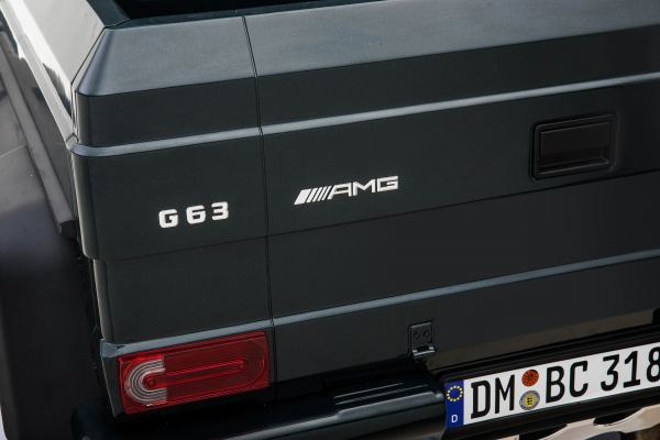 Masinuta electrica Mercedes G63 Solo, 2 baterii 12V, 6 roti cauciuc EVA, 4x4, 1 loc, 4 motoare, negru 30
