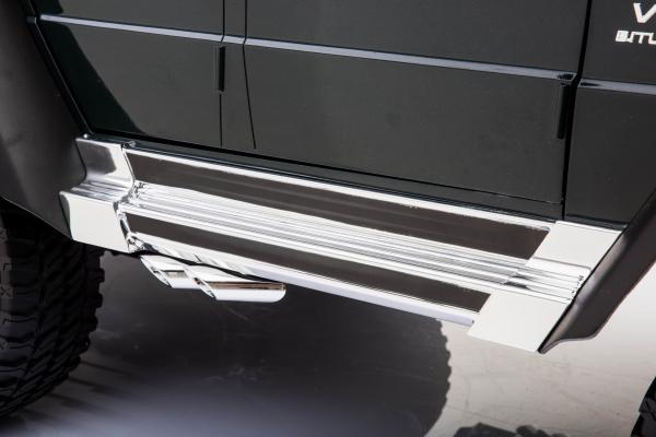 Masinuta electrica Mercedes G63 Solo, 2 baterii 12V, 6 roti cauciuc EVA, 4x4, 1 loc, 4 motoare, negru 25