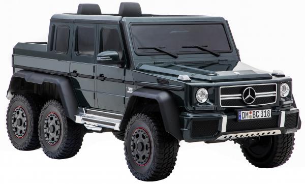 Masinuta electrica Mercedes G63 Solo, 2 baterii 12V, 6 roti cauciuc EVA, 4x4, 1 loc, 4 motoare, negru 10