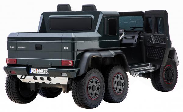 Masinuta electrica Mercedes G63 Solo, 2 baterii 12V, 6 roti cauciuc EVA, 4x4, 1 loc, 4 motoare, negru 17