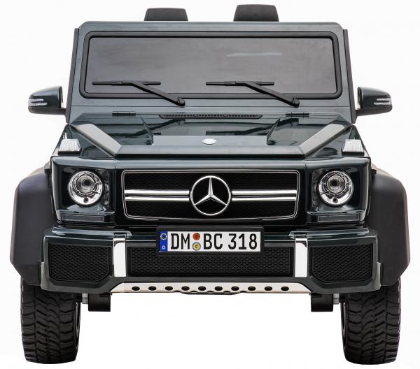 Masinuta electrica Mercedes G63 Solo, 2 baterii 12V, 6 roti cauciuc EVA, 4x4, 1 loc, 4 motoare, negru 1
