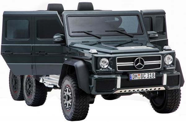 Masinuta electrica Mercedes G63 Solo, 2 baterii 12V, 6 roti cauciuc EVA, 4x4, 1 loc, 4 motoare, negru 18