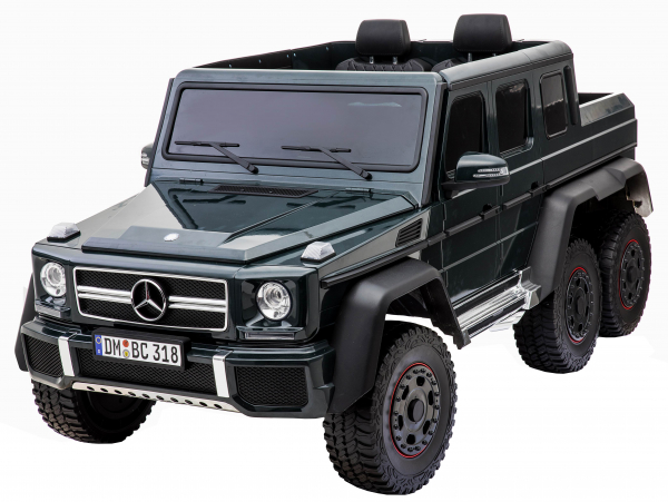 Masinuta electrica Mercedes G63 Solo, 2 baterii 12V, 6 roti cauciuc EVA, 4x4, 1 loc, 4 motoare, negru [2]