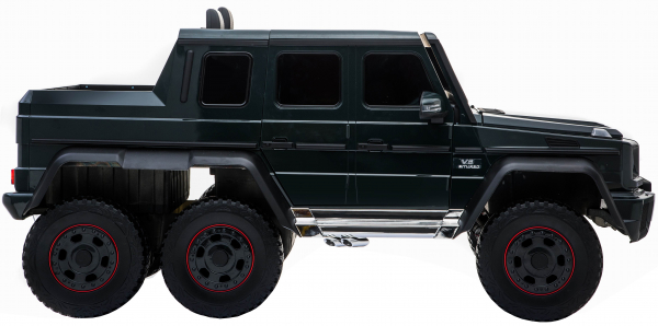 Masinuta electrica Mercedes G63 Solo, 2 baterii 12V, 6 roti cauciuc EVA, 4x4, 1 loc, 4 motoare, negru [9]