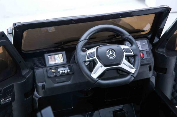 Masinuta electrica Premier Mercedes AMG G65, 12V, roti cauciuc EVA, scaun piele ecologica 8