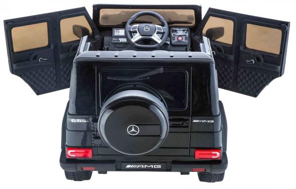Masinuta electrica Premier Mercedes AMG G65, 12V, roti cauciuc EVA, scaun piele ecologica 6