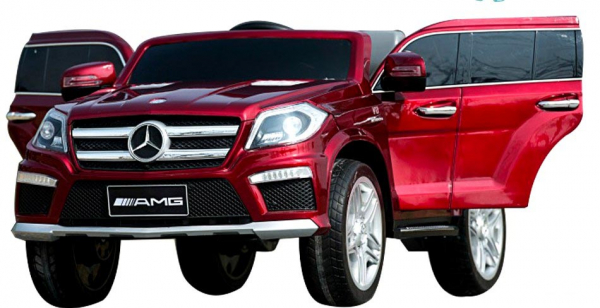 Masinuta electrica Premier Mercedes GL63, 12V, roti cauciuc EVA, scaun piele ecologica, rosu [1]