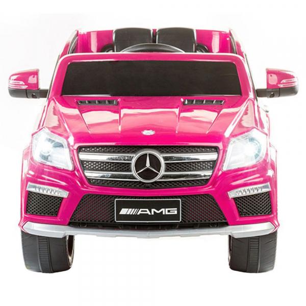 Masinuta electrica Premier Mercedes GL63, 12V, roti cauciuc EVA, scaun piele ecologica, roz [2]