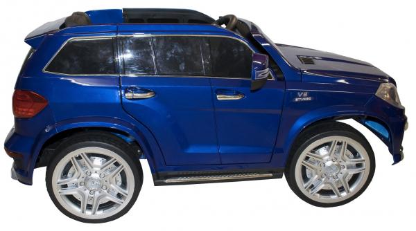 Masinuta electrica Premier Mercedes GL63, 12V, roti cauciuc EVA, scaun piele ecologica, albastra [1]