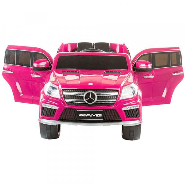 Masinuta electrica Premier Mercedes GL63, 12V, roti cauciuc EVA, scaun piele ecologica, roz [1]
