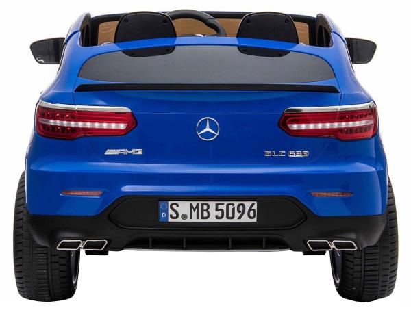 Masinuta electrica 4x4 Premier Mercedes GLC 63S Maxi, 12V, roti cauciuc EVA, scaun piele ecologica, albastru 4