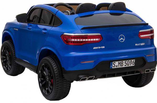 Masinuta electrica 4x4 Premier Mercedes GLC 63S Maxi, 12V, roti cauciuc EVA, scaun piele ecologica, albastru 3