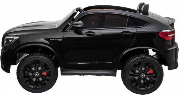 Masinuta electrica 4x4 Premier Mercedes GLC 63S Maxi, 12V, roti cauciuc EVA, scaun piele ecologica, negru [2]