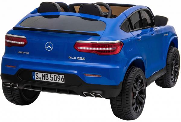 Masinuta electrica 4x4 Premier Mercedes GLC 63S Maxi, 12V, roti cauciuc EVA, scaun piele ecologica, albastru 5