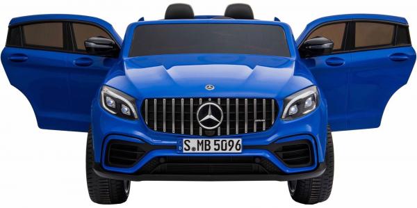 Masinuta electrica 4x4 Premier Mercedes GLC 63S Maxi, 12V, roti cauciuc EVA, scaun piele ecologica, albastru 6