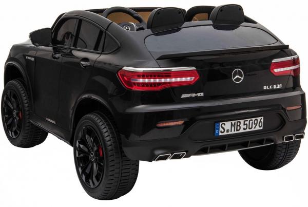 Masinuta electrica 4x4 Premier Mercedes GLC 63S Maxi, 12V, roti cauciuc EVA, scaun piele ecologica, negru [3]