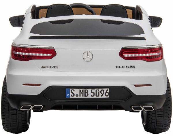 Masinuta electrica 4x4 Premier Mercedes GLC 63S Maxi, 12V, roti cauciuc EVA, scaun piele ecologica, alb 4