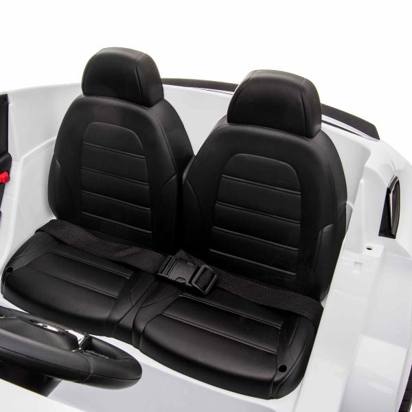 Masinuta electrica 4x4 Premier Mercedes GLC 63S Maxi, 12V, roti cauciuc EVA, scaun piele ecologica, alb 11