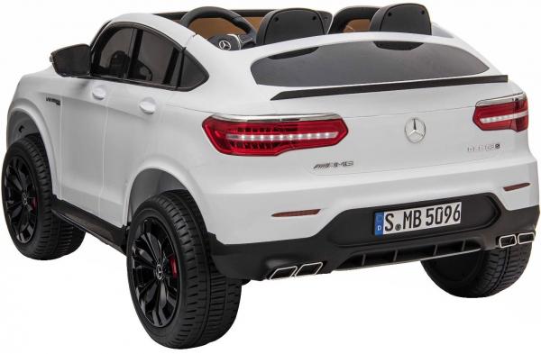 Masinuta electrica 4x4 Premier Mercedes GLC 63S Maxi, 12V, roti cauciuc EVA, scaun piele ecologica, alb 3