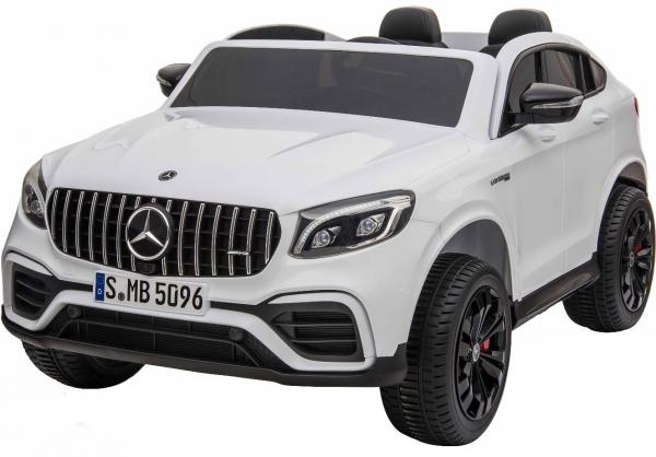 Masinuta electrica 4x4 Premier Mercedes GLC 63S Maxi, 12V, roti cauciuc EVA, scaun piele ecologica, alb 0