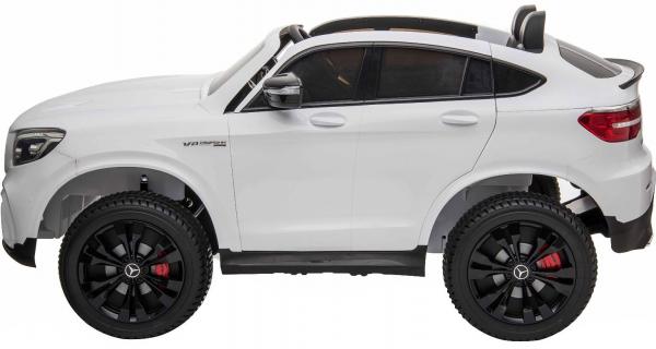 Masinuta electrica 4x4 Premier Mercedes GLC 63S Maxi, 12V, roti cauciuc EVA, scaun piele ecologica, alb 2