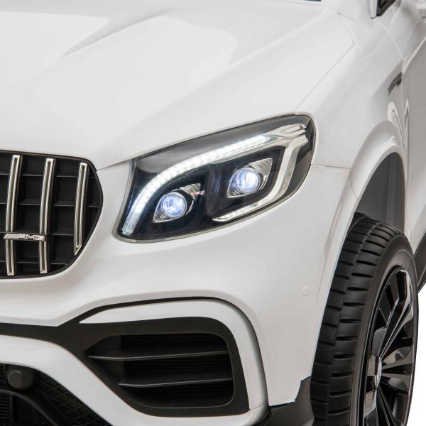 Masinuta electrica 4x4 Premier Mercedes GLC 63S Maxi, 12V, roti cauciuc EVA, scaun piele ecologica, alb 12