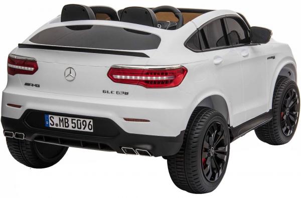 Masinuta electrica 4x4 Premier Mercedes GLC 63S Maxi, 12V, roti cauciuc EVA, scaun piele ecologica, alb 5