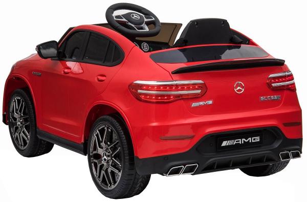 Masinuta electrica Mercedes GLC 63S, roti cauciuc EVA, scaun piele ecologica 5