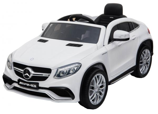Masinuta electrica Premier Mercedes GLE 63 Coupe, 12V, roti cauciuc EVA, scaun piele ecologica, alba [3]