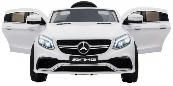 Masinuta electrica Premier Mercedes GLE 63 Coupe, 12V, roti cauciuc EVA, scaun piele ecologica, alba [1]