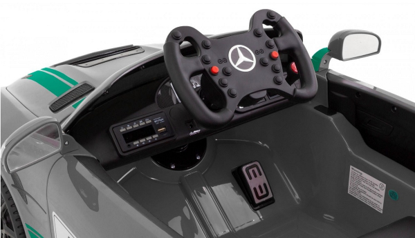 Masinuta electrica Premier Mercedes GT4, 12V, roti cauciuc EVA, scaun piele ecologica 7