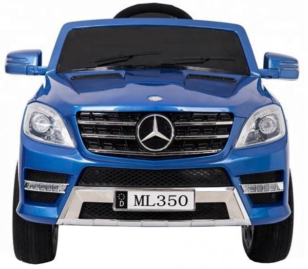 Masinuta electrica Premier Mercedes ML-350, 12V, roti cauciuc EVA, scaun piele ecologica, albastra 3