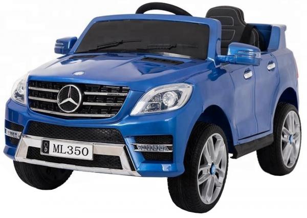 Masinuta electrica Premier Mercedes ML-350, 12V, roti cauciuc EVA, scaun piele ecologica, albastra 0
