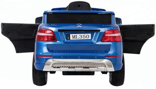 Masinuta electrica Premier Mercedes ML-350, 12V, roti cauciuc EVA, scaun piele ecologica, albastra 1