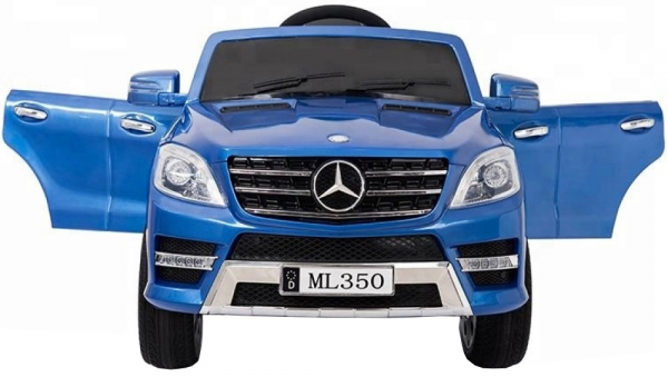 Masinuta electrica Premier Mercedes ML-350, 12V, roti cauciuc EVA, scaun piele ecologica, albastra 2