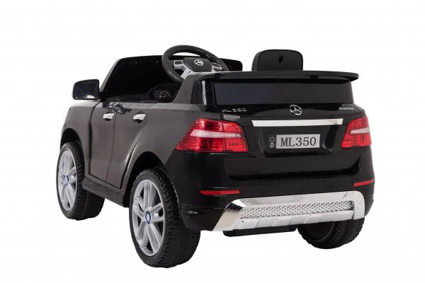 Masinuta electrica Premier Mercedes ML-350, 12V, roti cauciuc EVA, scaun piele ecologica, neagra 4