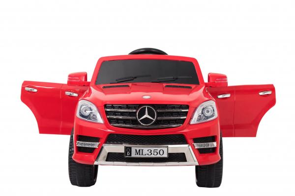 Masinuta electrica Premier Mercedes ML-350, 12V, roti cauciuc EVA, scaun piele ecologica, rosie [3]