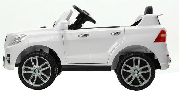 Masinuta electrica Premier Mercedes ML-350, 12V, roti cauciuc EVA, scaun piele ecologica, alba [2]