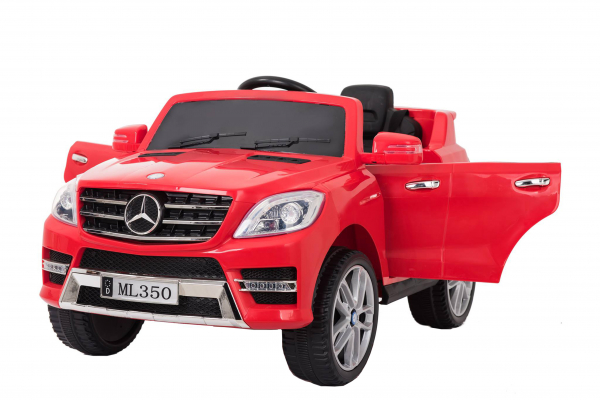 Masinuta electrica Premier Mercedes ML-350, 12V, roti cauciuc EVA, scaun piele ecologica, rosie [0]