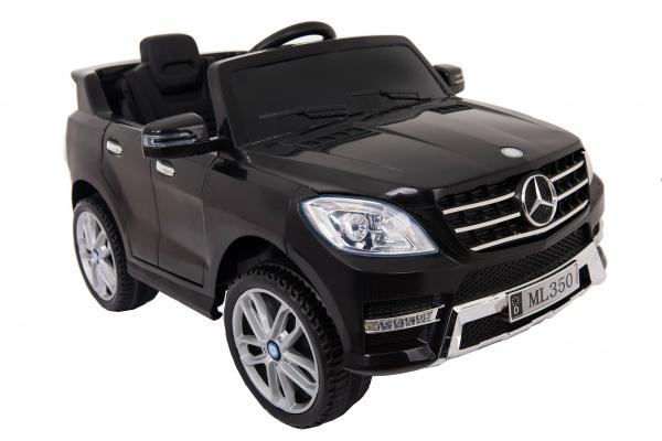Masinuta electrica Premier Mercedes ML-350 4MATIC, 12V, roti cauciuc EVA, Bluetooth, negru 1