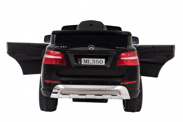 Masinuta electrica Premier Mercedes ML-350 4MATIC, 12V, roti cauciuc EVA, Bluetooth, negru 3