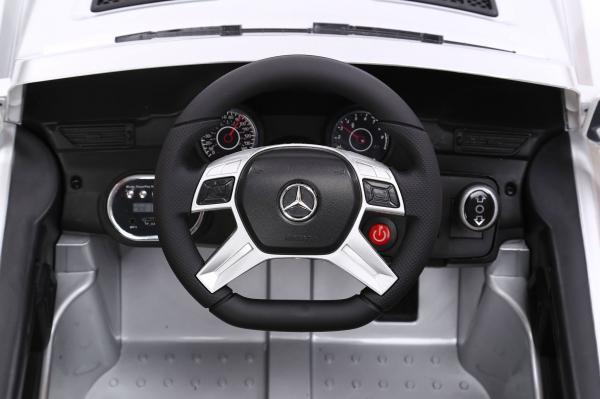 Masinuta electrica Premier Mercedes ML-350, 12V, roti cauciuc EVA, scaun piele ecologica, alba [4]