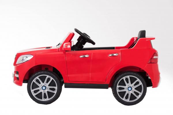 Masinuta electrica Premier Mercedes ML-350, 12V, roti cauciuc EVA, scaun piele ecologica, rosie [1]
