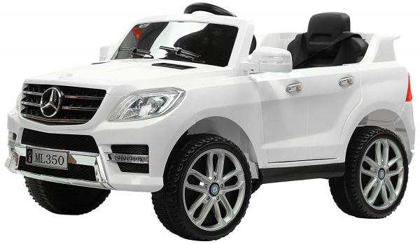 Masinuta electrica Premier Mercedes ML-350, 12V, roti cauciuc EVA, scaun piele ecologica, alba [0]