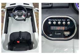 Masinuta electrica Premier Mercedes ML-350, 12V, roti cauciuc EVA, scaun piele ecologica, alba [3]