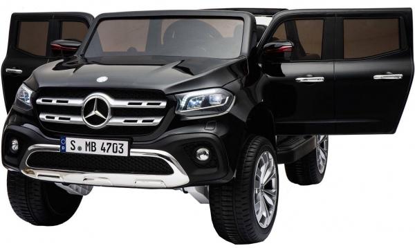 Masinuta electrica 4 x 4 Premier Mercedes X-Class, 12V, roti cauciuc EVA, scaun piele ecologica, negru [0]