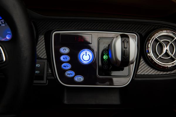Masinuta electrica 4 x 4 Premier Mercedes X-Class, 12V, roti cauciuc EVA, scaun piele ecologica, negru [6]