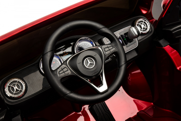 Masinuta electrica 4 x 4 Premier Mercedes X-Class, 12V, roti cauciuc EVA, scaun piele ecologica, rosu [12]